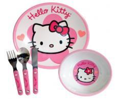 Set da tavola di Hello Kitty, piatto, ciotola e posate)