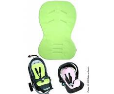 ByBoom Moby, Imbottitura universale per il seggiolino del bebè, con lato estivo e lato invernale, Verde lime