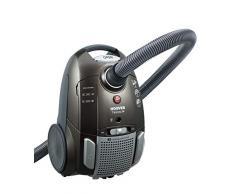 Hoover TE70_TE69 - Aspirapolvere a traino, con sacchetto silenzioso, 69 dB, 3,5 l, 9 m, EPA, lavabile, parquet, MiniTurbo, moquette, ioni dargento