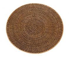 Kouboo Laguna Round rattan tovaglietta 38.1 x 38.1 x 1.27 cm Honey Brown