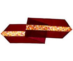 Beistle, 1 guida da tavolo decorativa, runner a tema autunnale con foglie, in tessuto, larghezza 30,5 cm x lunghezza 183 cm circa