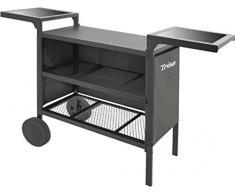 Trisa Electronics 7567.0100 Base Zona cottura Elettrico Nero barbecue e bistecchiera