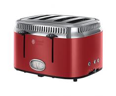 Russell Hobbs 21690-56 Retro Collection Tostapane a 4 fessure, Red Ribbon