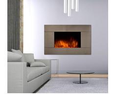 CheminArte 044 - Camino elettrico con effetto fiamma Pure Inox Color Style, Argento (Argent)