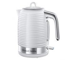 Russell Hobbs 24360-70 Bollitore Inspire, Plastica, Capacità 1.7L, 2400 Watt, Filtro Anticalcare, Bianco