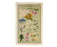 Ulster Weavers - Strofinaccio in cotone, motivo: fiori selvatici irlandesi