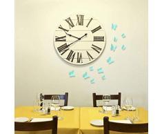 WALPLUS ADESIVI DA PARETE TURCO BLU 3D Farfalle rimovibile autoadesivo arte murale decalcomania vinile DECORAZIONE CASA fai-da-te VIVENTE ufficio camera letto carta parati cameretta bimbi regalo,