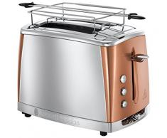 Russell Hobbs Luna Copper Accents Tostapane, Acciaio Inossidabile, 1500 W, Rame