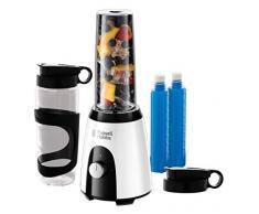 Russell Hobbs Mix & Go Boost Horizon 25161-56 Frullatore a pressione per smoothie 2vel - lame tritaghiaccio - 2 bottiglie - 400w