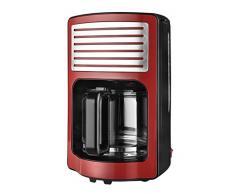 Team Kalorik Caffettiera con filtro capacità di 1.8 L, Caraffa in vetro, Fino a 15 tazze, 1000 W, Rosso, TKG CM 2500 R