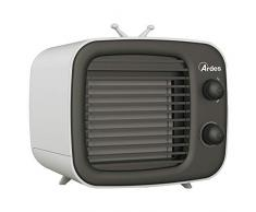 Ardes AR5R003 COOL MINI Raffrescatore Portatile, Mini Condizionatore con USB Umidificatore e Purificatore dAria, Ventilatore da Tavolo Personale