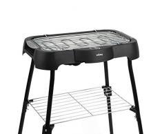 Weasy 1 Barbecue Grill Elettrico da Tavolo o rialzato Multifunzione GBE42, per Uso all'Intero/Esterno, Termostato Regolabile, 18/8 Stainless Steel