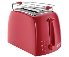 Russell Hobbs Textures Red Tostapane, 850 W, Rosso
