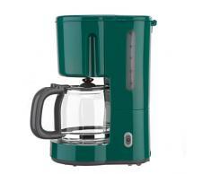 Bar Menta Verde antigoccia Spegnimento Automatico caraffa in vetro 1000/W Clatronic KA 3689/Rock n retro macchina per caff/è per 15/tazze