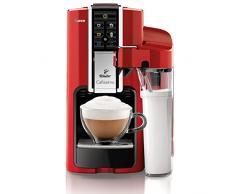 Tchibo, Macchina per caffè espresso e caffè crema in capsule Saeco Cafissimo Latte, incl. caraffa per latte da 0,5 l, Rosso