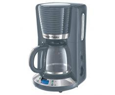 Russell Hobbs Inspire 24393-56 Macchina del caffè Americano, 1100 W, 1.25 Litri, Cromato, Grigio
