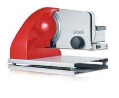 Graef SKS903EU Elettrico 185W Alluminio Rosso, Acciaio inossidabile affettatrice