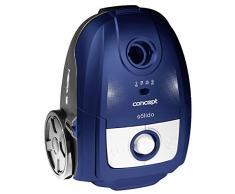 Concept Elettrodomestici VP8076 Aspirapolvere a Traino con Sacco, 700 W, 3 Litri, 66 Decibel, Plastic, Blu