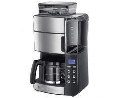 Russell Hobbs Cafetière Grind & Brew 25610-56 Macchina da caffè Americano, 1000 W, 1.25 Litri, Grigio