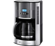 Russell Hobbs Geo Steel 25270-56 Macchina del caffè Americano, Dettagli in Acciaio Inox, 1000 W, 1.5 Litri, Grigio