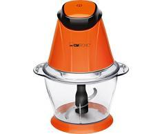 Clatronic MZ 3579 - Tritatutto multiuso, capacità 1 l, funzione tritaghiaccio, 250 W 17,5 cm l x 17,5 cm w x 22 cm h arancione