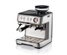 Ariete 1313 Macchina per caffè espresso con macinacaffè, per grani, polvere e cialda ESE, Cappuccinatore montalatte, Vano scaldatazze, Filtro 1 e 2 tazze, 1600 W, 2 litri, 15, Acciaio Inox