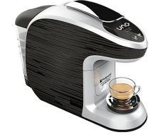Hotpoint CM HB QBG0 Macchina per Caffe Espresso, 1300 Watt, 0.85 Litri, Nero/Grigio