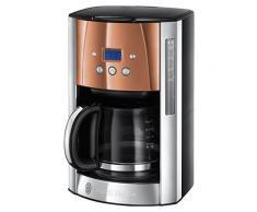Russell Hobbs Luna Copper Accents Macchina del caffè, 1000 W, Acciaio Inossidabile, Rame