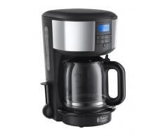 Russell Hobbs 20150-56 Macchina Caffè, 3100 Watt, 1.25 Litri, Acciaio Inossidabile, Nero