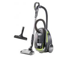 AEG UltraSilencer Aspirapolvere con sacchetto, classe di efficienza energetica A senza spazzola Turbo Standardverpackung nero/verde