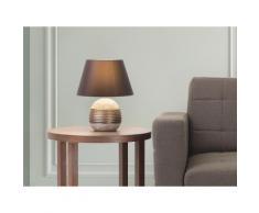 Lampada - Da tavolo - Da comodino - Colore marrone - SADO