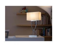 Lampada da tavolo moderna bianca - Lampada da comodino - YASUNI