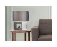 Lampada - Da tavolo - Da comodino - Color grigio - DUERO