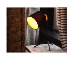 Lampada da tavolo nera moderna - Lampada da comodino - MOOKI