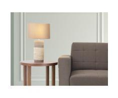 Lampada - Da tavolo - Da comodino - Colore marrone - NAVIA