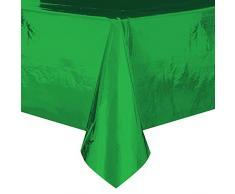 Foil tovaglia di plastica verde, 2,7 x 1,4 m