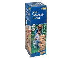 Idena 40205 - Gioco di abilità con 54 mattoncini in legno, misura XXL 15,5 x 15,5 x 54 cm, colore: marrone chiaro