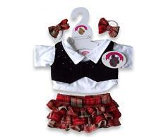 Costruisci il tuo Orsi armadio da 15 pollici vestiti adatti a costruire Orso gonna (Rosso / Nero)