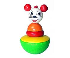 Hess 15705 - Bambino Wobble Bounce Back Giocattolo, Mouse, in Legno