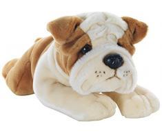Plush & Company 05926 - Ringhio Bulldog Steso Peluche, Lunghezza 40 cm