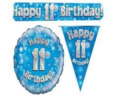 Oaktree bpwfa-4122 Buon ° compleanno, decorazione olografico party set, blu