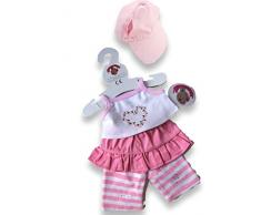 Build Your Clothes armadio Orsi 15 pollici Orso peluche costruire Fit giacca / gilet / Iron Teddy Outfit (rosa)