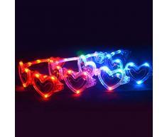 Rire Et Confetti Fiebas028, Decorazione per feste, Occhiali a cuore, Colori assortiti