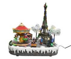 Kaemingk Scenario Parigino Tour Eiffel con LED Multicolore Natale Decorazioni, 8719152321308