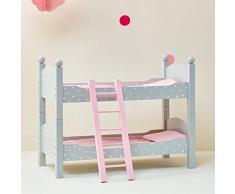 Letto a Castello Legno mobili Bambole 45 cm Gioco Ruolo Olivias World TD-0095AG