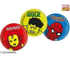 Marvel Avengers 78407 - Piatti di carta, misura grande, 23 cm, 8 ct, colore: Verde