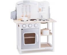 New Classic Toys Classic Rosso Giocattolo in Legno accessoriata per Bambini Educazione Tavola Divertimento Accessori da Cucina, Colore White, 11053