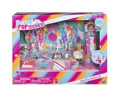 Party Pop Teenies Set Party Time con 3 Bambole, 17 Accessori, 2 Mobiletti, Cuccioli, Sfondo e 2 Fogli Adesivi, Coriandoli, Poster da Collezione, 6045714