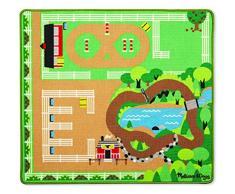 Melissa & Doug- Round The Ranch Horse Tappeto di attività, Multicolore, 99x92 cm, 9409