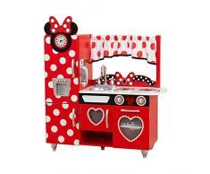 KidKraft 53371 Cucina Giocattolo in Legno per Bambini Disney Jr. Minnie Mouse Vintage con Telefonino Incluso